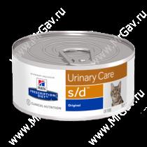 Hill's Prescription Diet s/d Urinary Care влажный корм для кошек, 156г