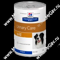 Hill's Prescription Diet s/d Urinary Care влажный корм для собак, 370 г