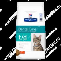 Hill's Prescription Diet t/d Dental Care сухой корм для кошек с курицей