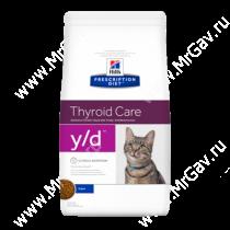 Hill's Prescription Diet y/d Thyroid Care сухой корм для кошек, 1,5 кг