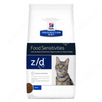 Hill's Prescription Diet z/d Food Sensitivities сухой корм для кошек, 2 кг