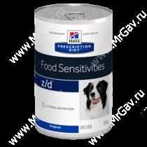 Hill's Prescription Diet z/d Food Sensitivities влажный корм для собак, 370 г