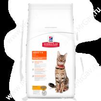 Hill's Science Plan Optimal Care сухой корм для кошек курица, 2 кг
