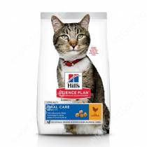 Hill's Science Plan Oral Care сухой корм для взрослых кошек для гигиены полости рта курица