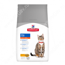 Hill's Science Plan Oral Care сухой корм для взрослых кошек для гигиены полости рта курица, 1,5 кг