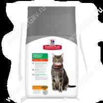 Hill's Science Plan Perfect Weight сухой корм для кошек, склонных к набору веса с курицей, 1,5 кг