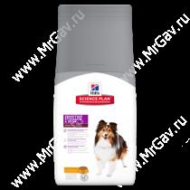 Hill's Science Plan Sensitive Stomach & Skin сухой корм для взрослых собак для здоровья кожи и пищеварения с курицей, 12 кг