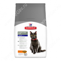 Hill's Science Plan Sterilised Cat сухой корм для стерилизованных кошек старше 7 лет с курицей
