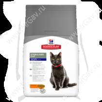 Hill's Science Plan Sterilised Cat сухой корм для стерилизованных кошек старше 7 лет курица, 1,5 кг