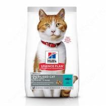 Hill's Science Plan Sterilised Cat сухой корм для кошек и котят от 6 месяцев, с тунцом