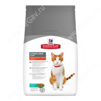 Hill's Science Plan Sterilised Cat сухой корм для кошек и котят с тунцом, 1,5 кг