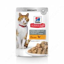 Hill's Science Plan Sterilised Cat влажный корм для кошек и котят от 6 месяцев курица, 85 г
