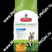 Hill's Science Plan Youthful Vitality сухой корм для собак мелких пород старше 7 лет с курицей и рисом, 2,5кг