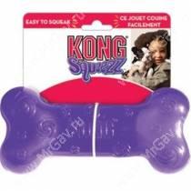 Хрустящая косточка Kong Squezz Crackle, средняя, фиолетовая