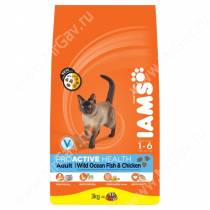 IAMS Adult Cat Wild Ocean Fish&Chicken (Океаническая рыба)