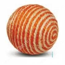 Игрушка для кошек Шарик из сизаля 9,5 см, оранжевый