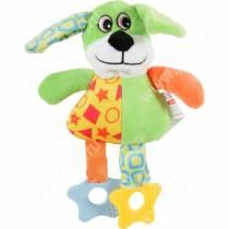 Игрушка плюшевая для собак Zolux собака, 23 см, зеленая