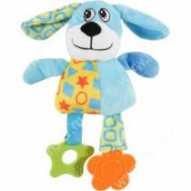 Игрушка плюшевая для собак Zolux собака, 23 см, голубая