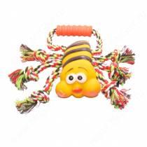 Канат с пчелкой, красно-зеленый
