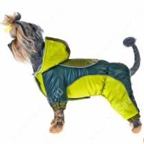 Комбинезон для собак Фристайл,  зеленый, 2
