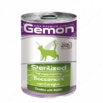 Консерва Gemon Cat Sterilised (Кусочки кролика), 415 г