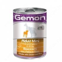 Консерва Gemon Dog Mini (Кусочки курицы с рисом), 415 г