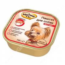 Консерва Мнямс для взрослых собак с говядиной, 150 г