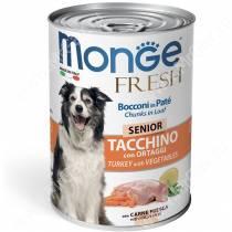 Консерва Monge Dog Fresh для пожилых собак (индейка с овощами), 400 г