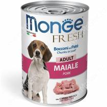 Консерва Monge Dog Fresh для взрослых собак (свинина), 400 г