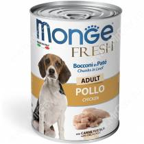 Консерва Monge Dog Fresh для взрослых собак (курица), 400 г