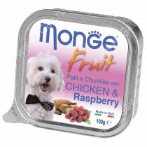 Консерва Monge Dog Fruit (Курица с малиной), 100 г