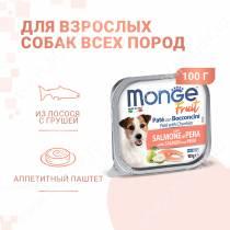 Консерва Monge Dog Fruit (Лосось с грушей), 100 г