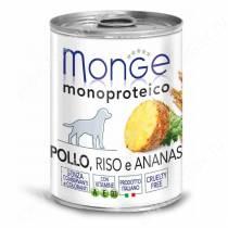 Консерва Monge Dog Monoproteico Fruits (Паштет из курицы с рисом и ананасами), 400 г