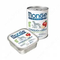 Консерва Monge Dog Monoproteico Fruits (Паштет из кролика с яблоками), 400 г