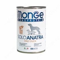 Консерва Monge Dog Monoproteico Solo (Паштет из утки), 400 г