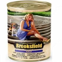 Консервы Brooksfield Dog Adult, говядина и ягненок, 400 г