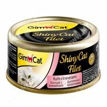 Консервы для кошек GimCat ShinyCat Filet из цыпленка с креветками
