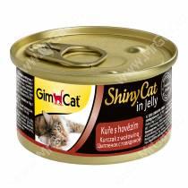 Консервы для кошек GimCat ShinyCat из цыпленка с говядиной