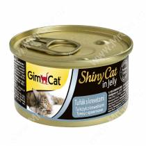 Консервы для кошек GimCat ShinyCat из тунца с креветками