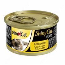 Консервы для кошек GimCat ShinyCat из тунца с сыром