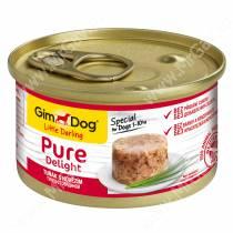 Консервы для собак GimDog Pure Delight из тунца с говядиной