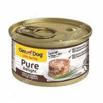 Консервы для собак GimDog Pure Delight из цыпленка с говядиной