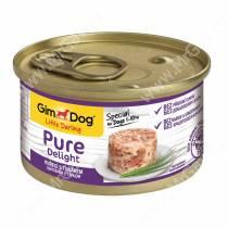 Консервы для собак GimDog Pure Delight из цыпленка с тунцом