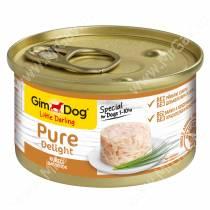 Консервы для собак GimDog Pure Delight из цыпленка