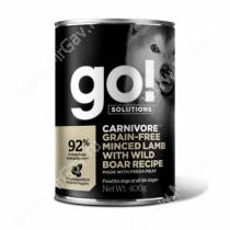 Консервы для собак GO! Carnivore Ягненок / кабан, 400 г