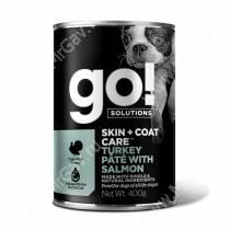 Консервы для собак GO! Skin&Coat Индейка / лосось, 400 г