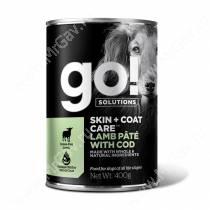 Консервы для собак GO! Skin&Coat Ягненок / треска, 400 г