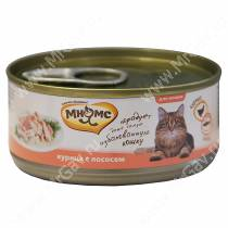 Консервы Мнямс для кошек Курица с лососем в нежном желе, 70 г