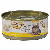 Консервы Мнямс для кошек Курица с сыром в нежном желе, 70 г