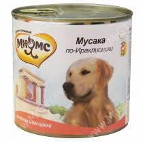 Консервы Мнямс для собак Мусака по-Ираклионски (ягненок с овощами), 600 г
